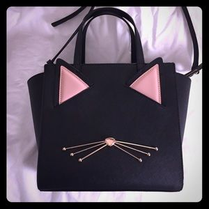New Kate Spade Hayden cat jazz things up purse